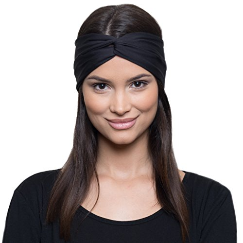 Moisture Wicking Turban Headband for Sports, Running, Workout and Yoga, Insulates and Absorbs Sweat, Women Hair Band by French Fitness Revolution from French Fitness Revolution