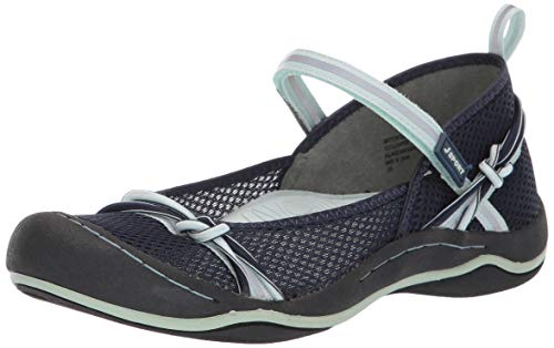 JSport by Jambu Women's Misty Encore Mary Jane Flat Navy/Seafoam 9.5 M US ()