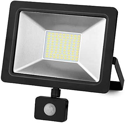 Matel Proyector led sensor negro 100w. fria: Amazon.es ...