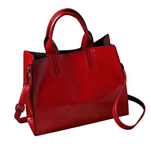 bolso las mujeres versátil zarupeng de Bolso Rojo simples del hombro de fwnAwxpPqX
