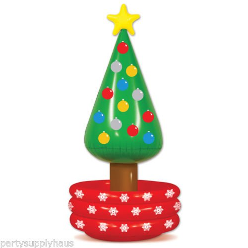 """Inflatable CHRISTMAS TREE COOLER Holiday Party Decoration NEW YEARS EVE 53"""" Tall"""