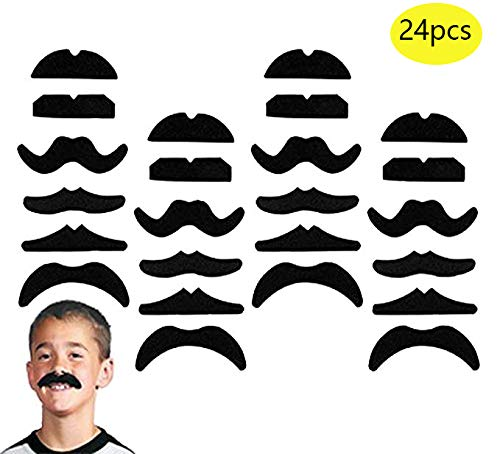 24 PCS Fake Mustaches,Mustache Party,Mustache for Masquerade Party and Performance -