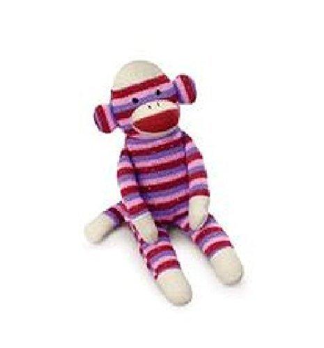 Russ Berrie Striped Sock Monkey Plush (Red Striped Monkey)