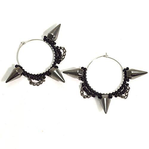 Hoop Spike Earrings Gothic Alternative Jewelry Riot Grrrl Punk Rock Gift