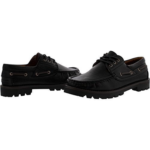 Brixton - Veter 3 Eye Lace Up Moc Teenloafer - Zwart