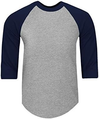 5.8oz Raglan T shirt ベースボールTシャツ メンズ 7分袖 七分袖 ラグラン袖 アメリカ人 コットンジャージー S~5XL