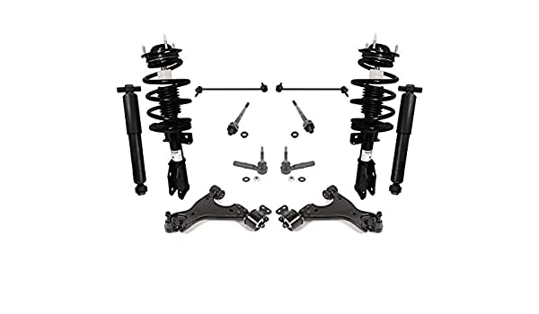 12pc 2WD Upper Control Arms Sway Bars Tierods Ball Joints for 2009-2012 Ram 1500