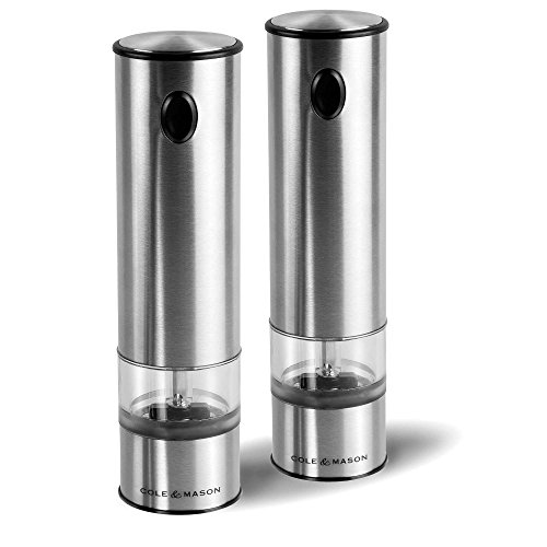 Cole and Mason Electric Salt and Pepper Mill Battery Set