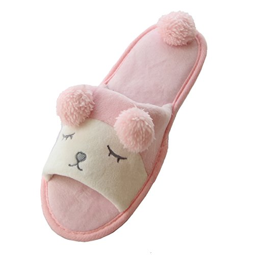 Caramella Bubble sheep Washable House Slippers Open Toe Spa Slide relax couple Slipper (US9-10, Pink)