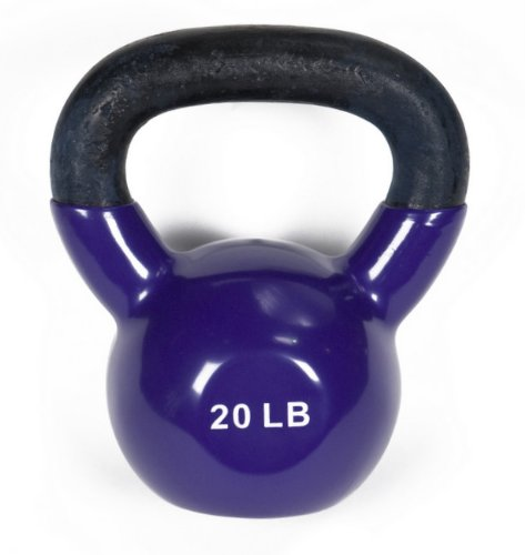 J/fit 20lb Vinyl Kettlebell purple