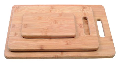 - Melange Warp-Resistant Bamboo Cutting Board Set of 3 (Large) | Extra-Strong 100% Natural MOSO | Eco-Friendly Premium Wood Kitchen Chopping Boards for Slicing, Carving & Serving (Large, Medium & Small)