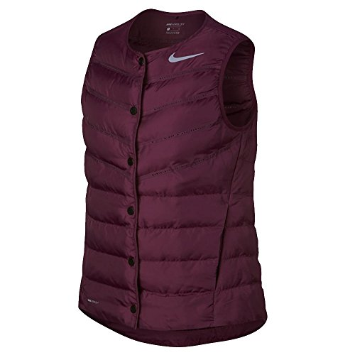NIKE AeroLoft Golf Vest 2017 Women Bordeaux/Metallic Silver Large