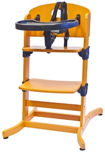 guzzie+Guss Banquet Wooden High Chair, Orange G+G212ORANGE