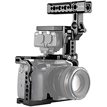 SmallRig GH5/GH5S Cage Kit for Panasonic Lumix and DMW-XLR1-2052, Top Handle Kit for DMW-XLR1 and GH5/GH5S Cage Included