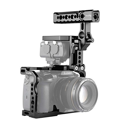 Price comparison product image SmallRig GH5 / GH5S Cage Kit for Panasonic Lumix and DMW-XLR1 - 2052,  Top Handle Kit for DMW-XLR1 and GH5 / GH5S Cage Included