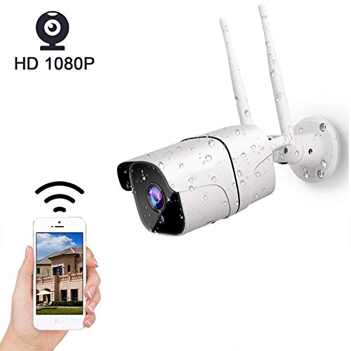 Outdoor IP Camera, 1080P Full HD Wireless CCTV Security Camera Waterproof IP66 with 2-Way Audio, AP Hotspot,Motion Detection, Night Vision,Remote View Via Smart Phone/Tablet/PC (2) (Hd Cloud Ip Camera Megapixels Waterproof Camera)