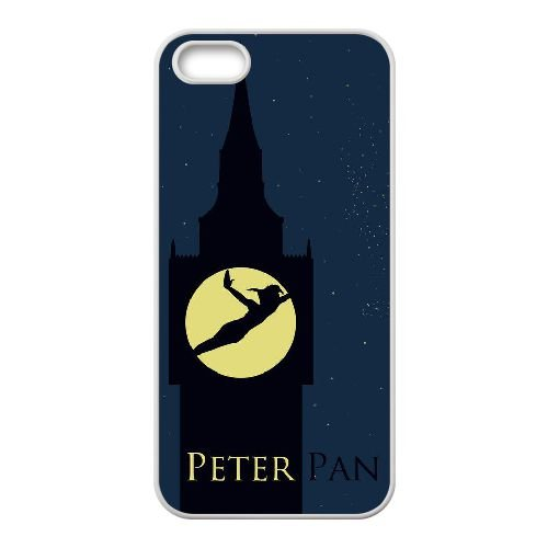 Peter Pan 005 coque iPhone 5 5S Housse Blanc téléphone portable couverture de cas coque EEEXLKNBC19440
