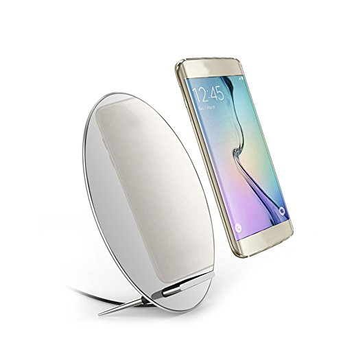 Qi Wireless Charger W7 Fast Charging Stand 5V/2A 9V/1.67A for iPhone 8 10 X for Samsung S6 S7 S8 S8+ Makeup Mirror
