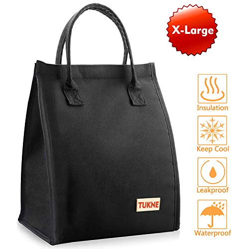 Lunch Box for Women Men, Mikikin Insulated Lunch Bag Wide-Open, Leak Proof Thermal Meal Prep Large Lunch Tote Cooler Bag Lunch Organizer for Work, Hiking, Beach, Picnic, School, Fishing