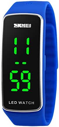 Kids Sport Led Digital Wrist Watch Boys Girls Silicone Bracelet Watch Blue