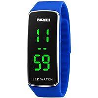 Kortusa LED Sport Digital Wrist Watch 50M Waterproof for Kids Boys Girls Men Women Silicone Bracelet Watch