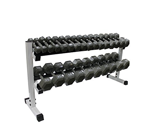 2-tier 60'' Dumbbell Rack w/ Hex Dumbbells by Ader Sporting Goods