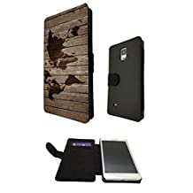 Vintage Wood Design Look Vintage World Map Design Samsung Galaxy S5 i9600 Fashion Trend Full Case Book Style Flip cover Defender Credit Card Holder Pouch Case Cover iPhone Wallet Purse