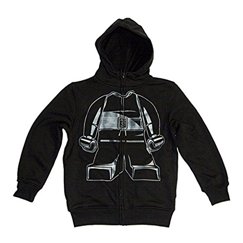 LEGO Star Wars Little Boys Kylo Ren Costume Hoodie Zip-Up Sweatshirt (Black, 5) -