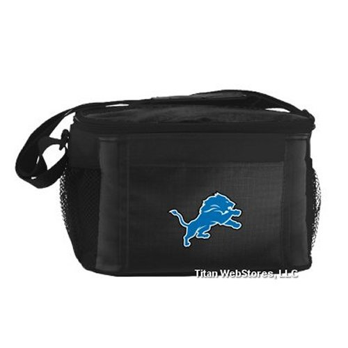 Box Lunch Lions (NFL Football Tailgating 6 Pack Cooler - Lunch Box Cooler (Lions))