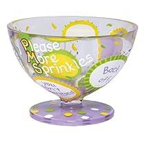 Lolita Hand Painted Glass Sundae Bowl, Pms