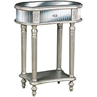 Pulaski Jaclyn Accent Table, 24 by 30.25 by 15-Inch, Silver
