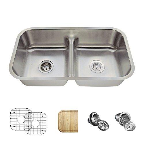 512 16 Gauge Stainless Steel Kitchen Ensemble (Bundle - 6 Items: Sink, Basket Strainer, Standard Strainer, 2 Sink Grids, and Cutting Board) ()