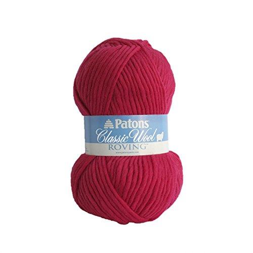 Classic Merino Wool Yarn (Patons Classic Wool Roving Yarn, Cherry)