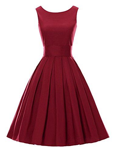 Luouse Sommer Damen Ohne Arm Kleid Dress Vintage petticoat kleid Junger abendkleid
