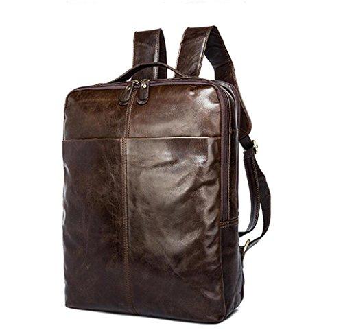 travelling Men's 3 double Travel Shoutibao computer Leather Bag Backpack men's Bag Shoulder Bag Backpack school ZSxxATqwv