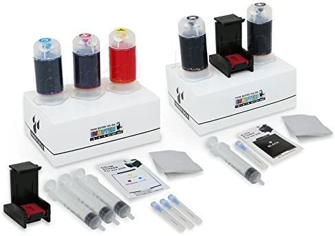 INKUTEN Refill Kit Combo Pack for HP 63 61 62 65 60 662 664 652 678 802 680 803 704 818 703 Black and Color Inkjet Cartridges