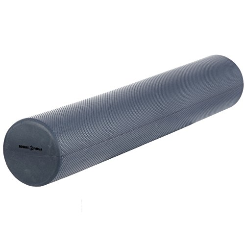 BODHI Pilates Rolle lang, 90 x Ø 15 cm, Faszien Rolle, silber-grau / anthrazit, professionelles Trainingsgerät, Pilatesrolle