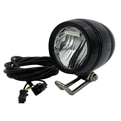 ZOOMPOWER 6v - 80v 12v 24v 36v 48v 60v 72v universal e-bike headlight taillight set front light headlamp rear light taillamp bafang 3w by ZOOMPOWER (Image #1)