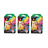 Photo : Fujifilm Instax Mini Instant Rainbow Film, 10 Sheets, 3 Value Set