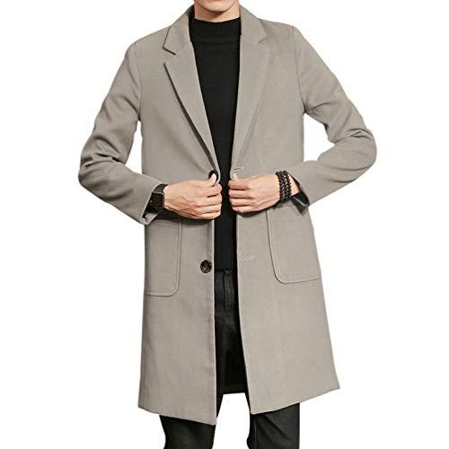 De Gabardina Cómoda Larga Y Outwear Hellgrau Informal Nnen Gabardina Abrigo Cálida Ropa Abrigo Moda Outwear Hombres P4q8IxnwH
