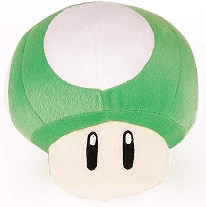 Amazon Com Super Mario Brothers 10 Green Mushroom Plush Toys