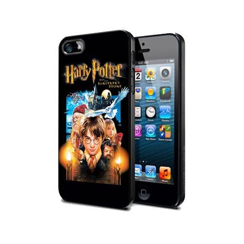 Cover Design per iPhone 5C Harry Potter HP01bordo in gomma silicone nero @ pattayamart
