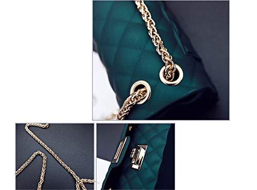 Negro Gold Estilo Encantadora Messenger Mate Bolso Lingge Con Femenina Bandolera Bolsos Jalea Champagne Bag FqSgy1wvO
