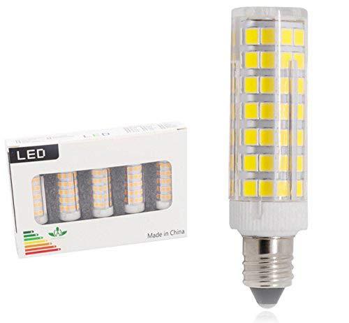 le Bulb, JD E11 Mini Candelabra Base Bulbs, 120V T4 JD White Bulbs 5-Pack (6W-White Color) ()