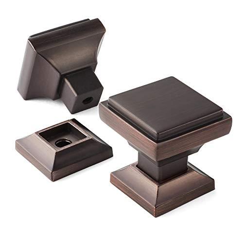 Cauldham 10 Pack Solid Kitchen Cabinet Knobs Pulls (1