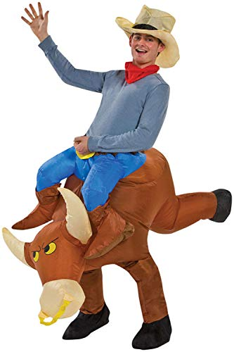 Best Horse And Rider Halloween Costumes (RETRO JUMP Inflatable Cattle Costume Cosplay Cowboy Fancy Dress Blow up Adult Rider)