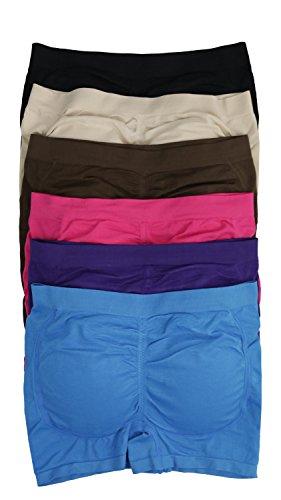 [ToBeInStyle Women's Pack of 6 Padded Boyshorts - One Size] (Padded Underwear)