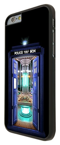 249 - Doctor who Tardis Call Box Travel Machine Design iphone 6 6S 4.7'' Coque Fashion Trend Case Coque Protection Cover plastique et métal - Noir