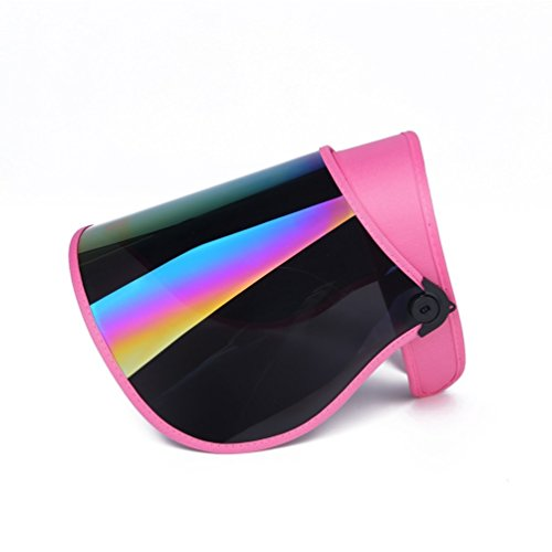 Visor Sun Pink (VEBE UV Sun Visor for UV Protection Hat UV Sun Cap Adjustable Angle with Color Cover(Pink))