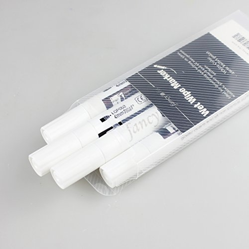 fancy-fix Wet Wipe Liquid Chalk Marker- Pack of 4 White